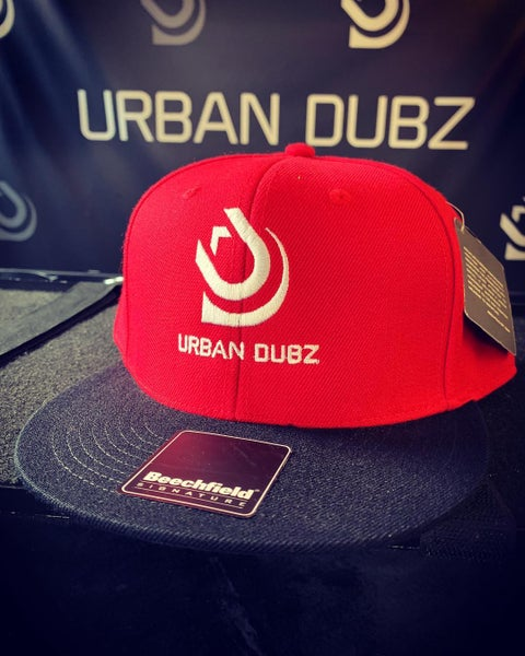 Image of Urban Dubz Red/Black Snapback Cap.