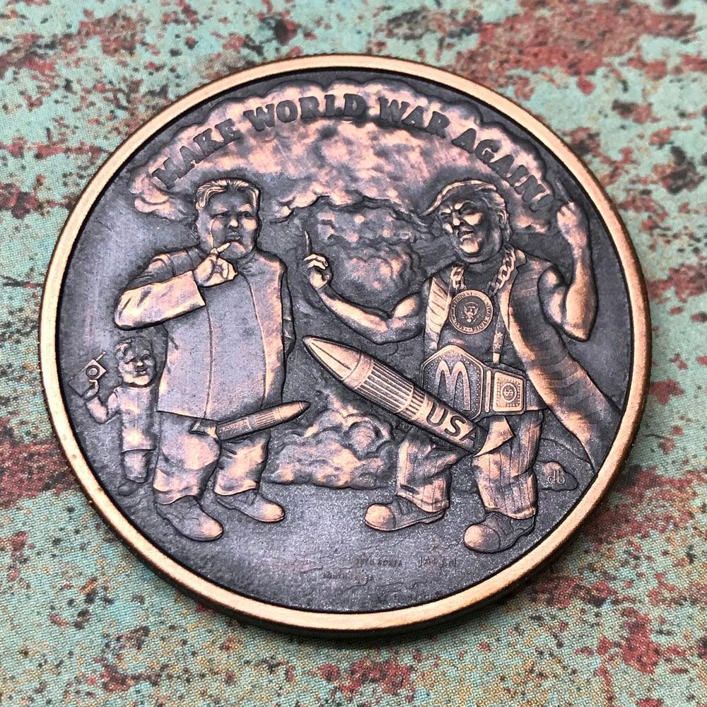 Image of Make World War Again 1oz Copper Challenge Coin