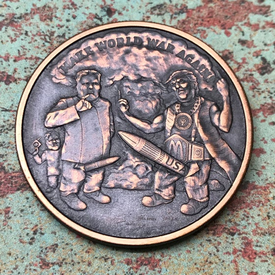 Image of Make World War Again 1oz Copper Challenge Coin