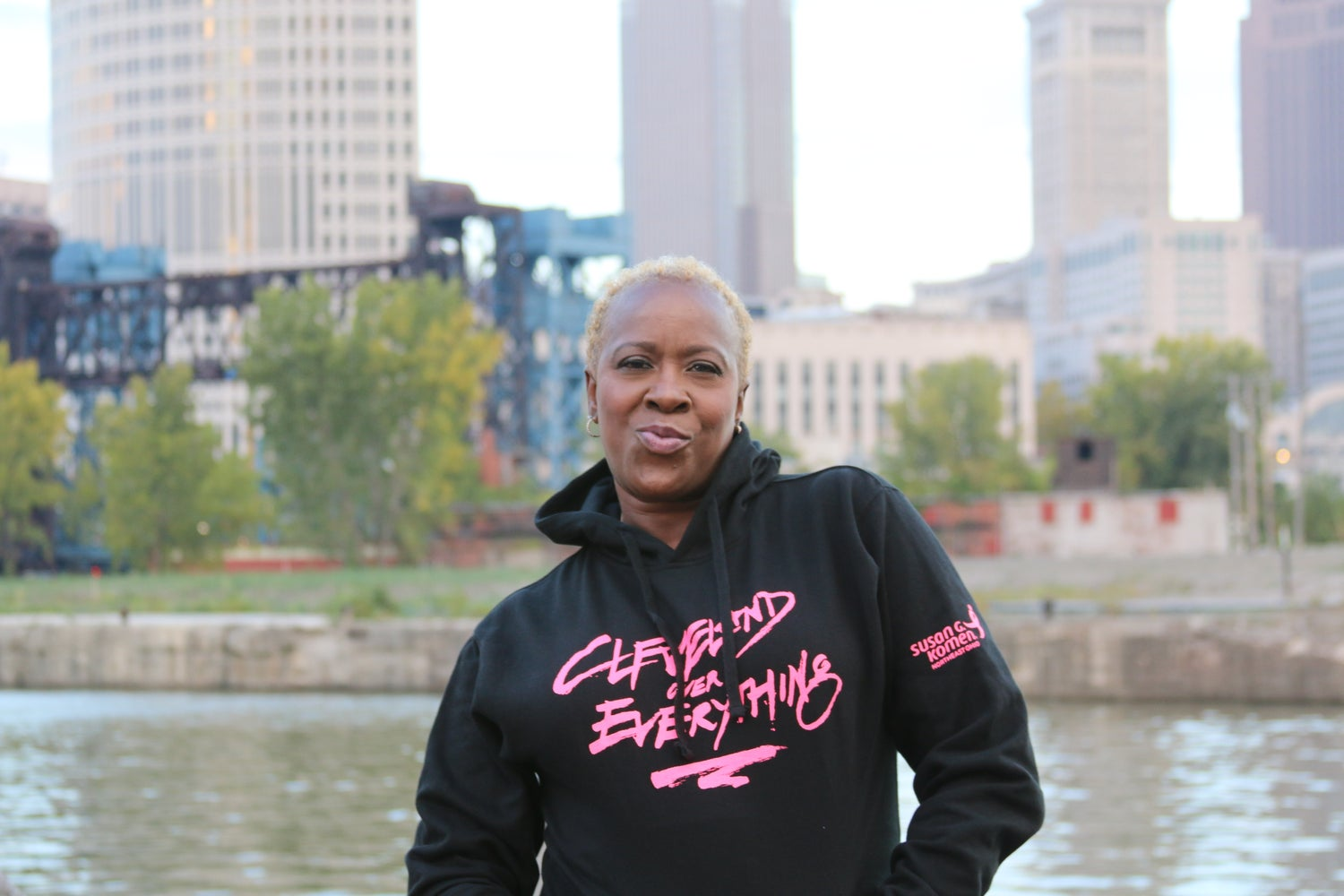 Image of Cleveland Over Everything Unisex Hoody (Pink Edition)