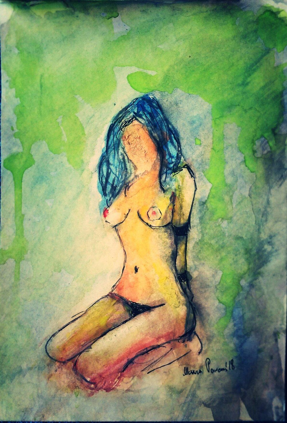 """Image of """"Weekend."""" Original Watercolor."""