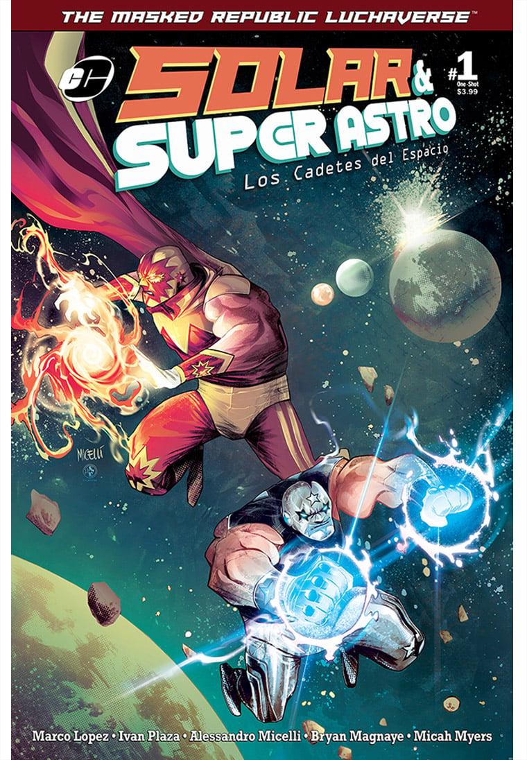 Image of *PRE-ORDER* Masked Republic Luchaverse: Solar & Super Astro - Los Cadetes del Espacio #1 One-Shot
