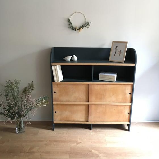 Image of Fernand, meuble bibliothèque vintage