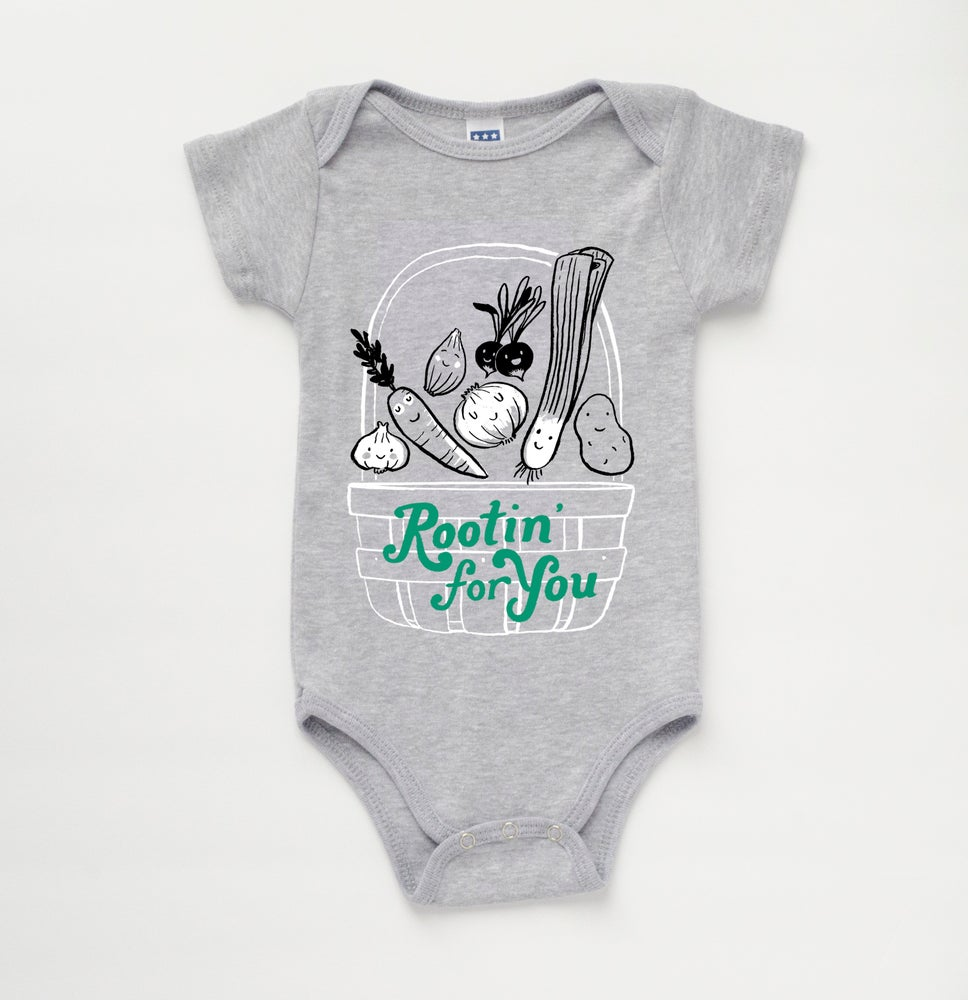 Image of ROOTIN' FOR YOU babies' bodysuit