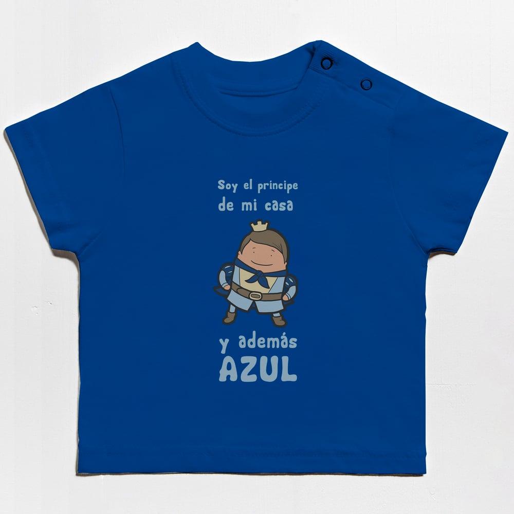 Image of Camiseta bebe príncipe Paso Azul Lorca