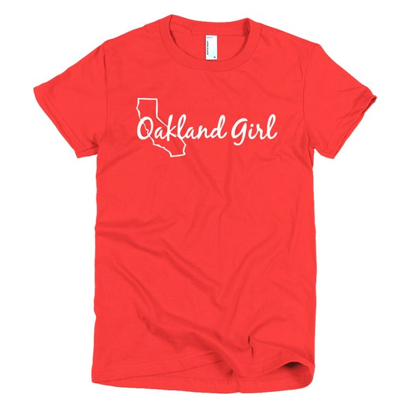 Image of Red Oakland Girl Tee