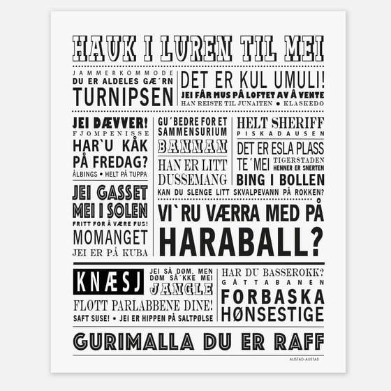 """Image of Postkort """"Vi´ru værra med på haraball?"""" (Oslo)"""