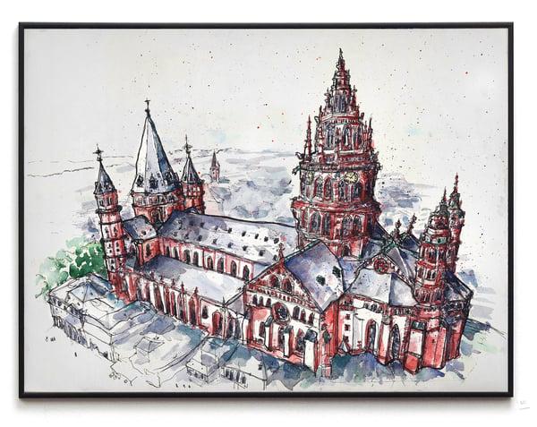 Image of Mainzer Dom Aquarell Illustration