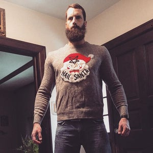 Image of Handsewn Hail Santa Knit Sweater