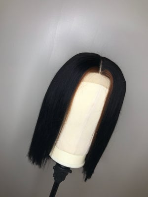 """Image of Lace Closure Unit """"Blunt Cut w/ highlight"""""""