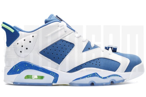 "Image of Nike AIR JORDAN 6 RETRO LOW ""SEAHAWKS"""