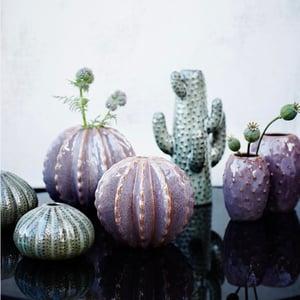 Image of Stoneware cactus vase