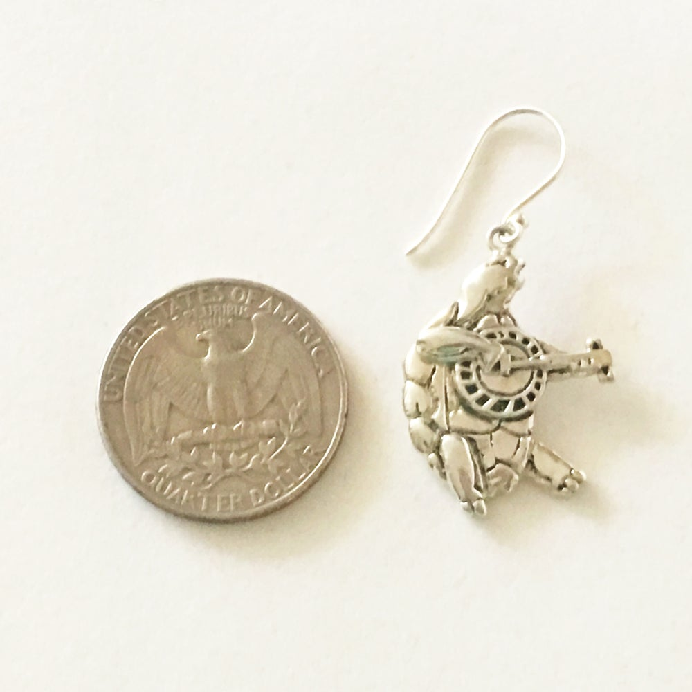 Image of Terrapin Turtle Sterling Silver Earrings