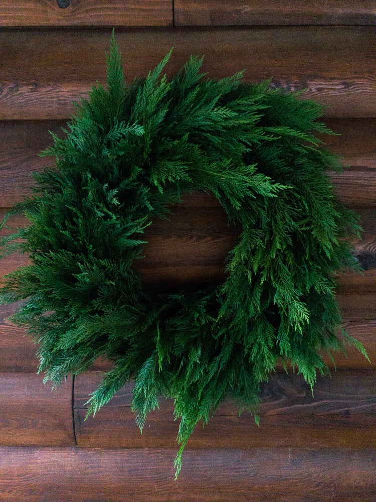 Image of Large Simple Green Wreath