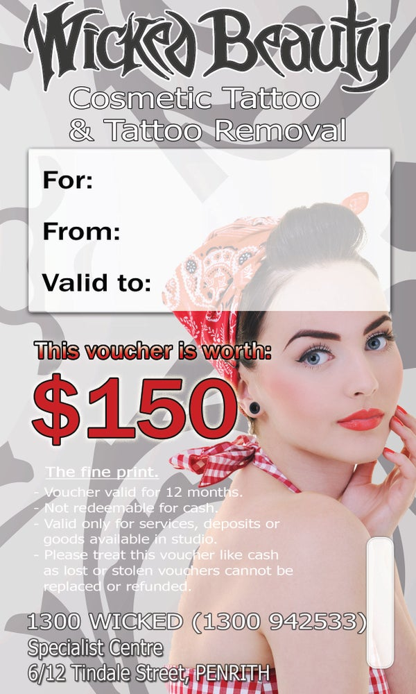 Image of Wicked Beauty & Laser Gift Voucher