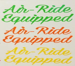 Image of Air-Ride Equipped decal(Set of 2)