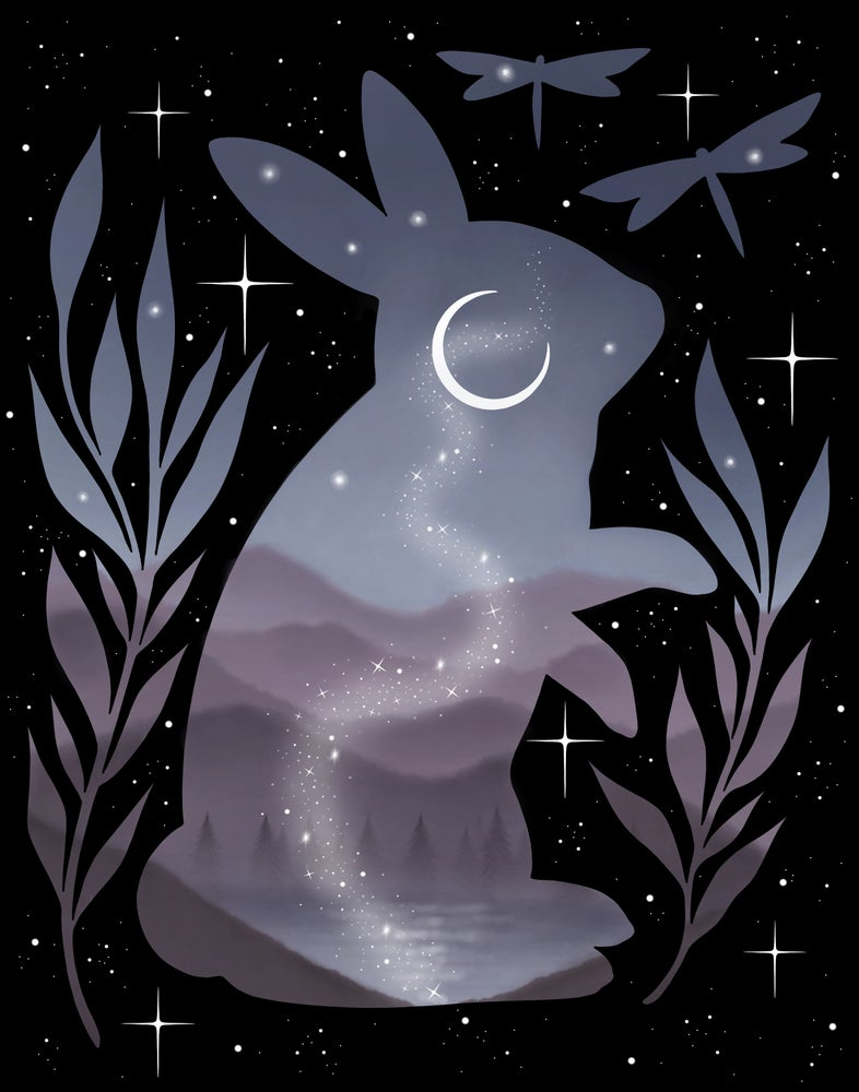 Image of 'Midnight Bunny' Print
