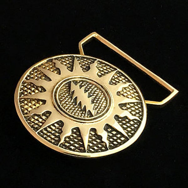 Image of Sunshine daydream Belt buckle cast in Yellow Brass
