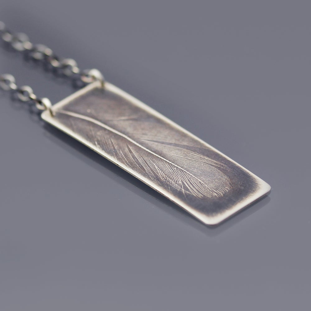 Image of Sterling Silver Feather Necklace No. 1