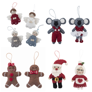 Image of Fairtrade Felt Christmas Decorations