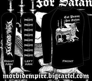 Image of EAT PUSSY FOR SATAN Long sleeve T-shirt PRE-ORDER