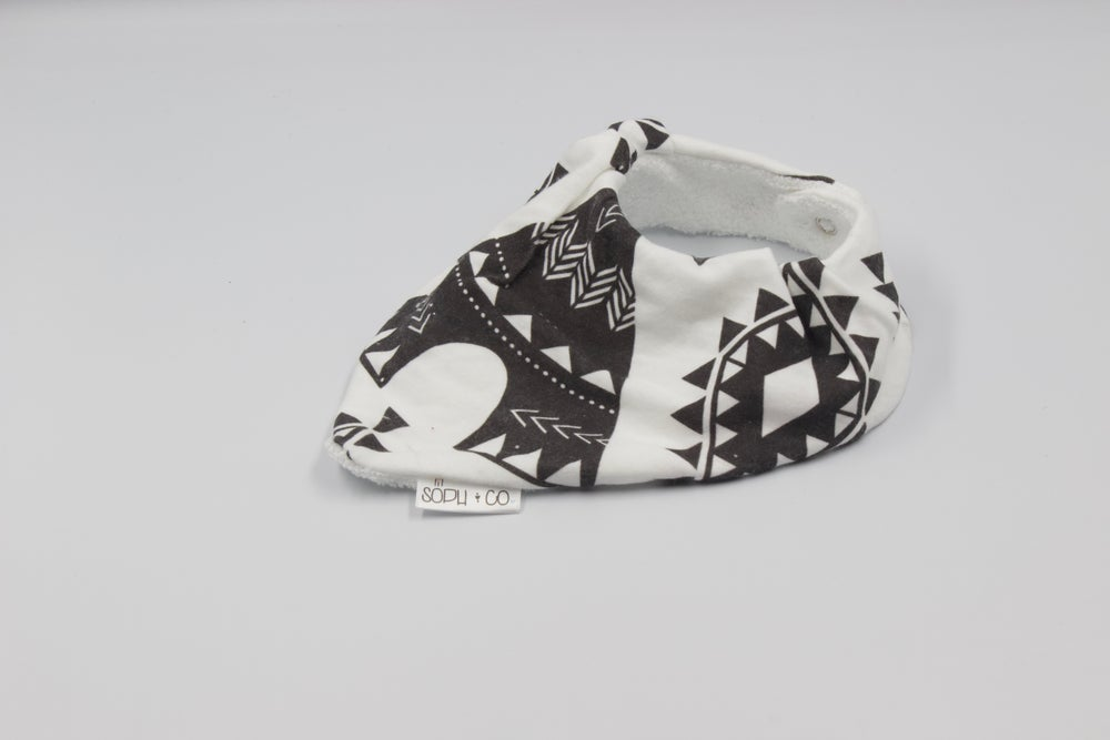 Image of Bandana Bib - Teepee Black