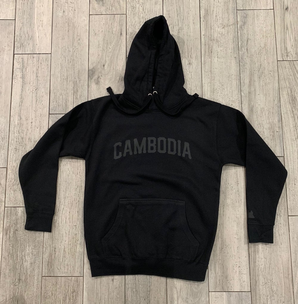 Image of Black on Black Cambodia Hoodie