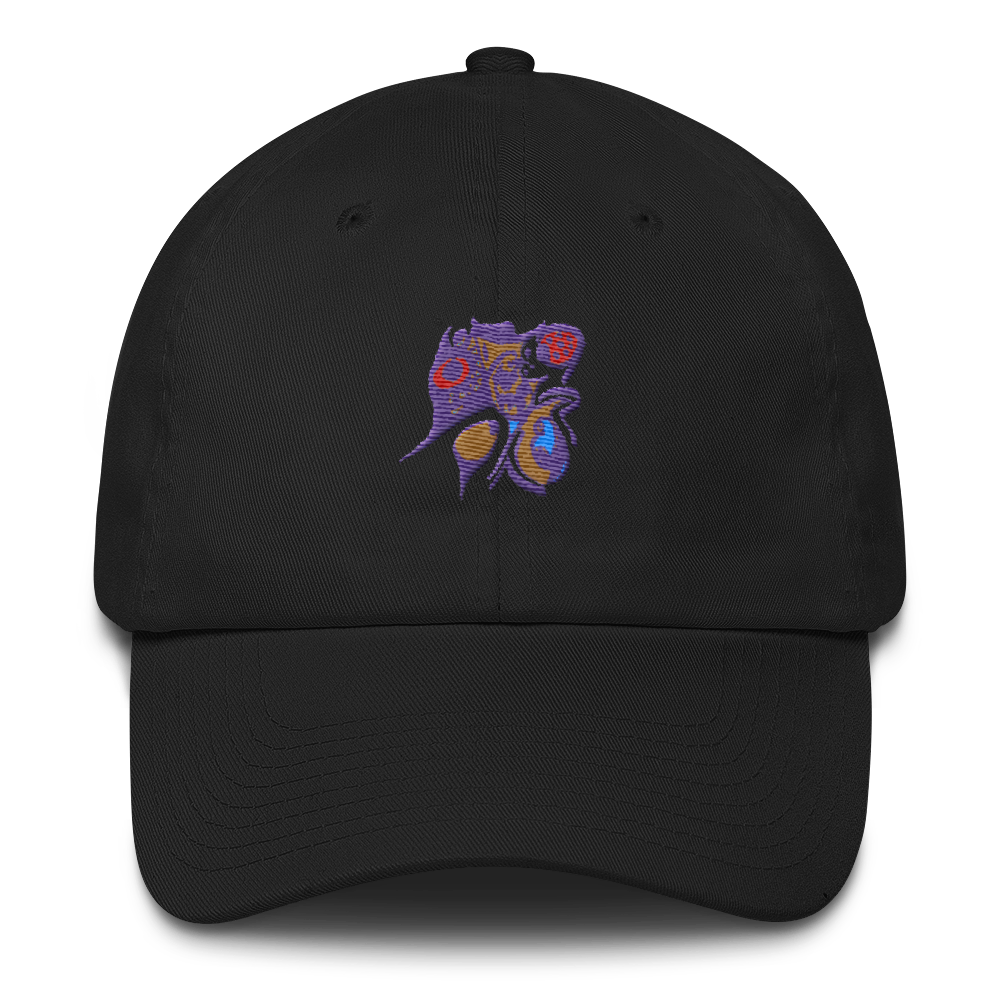 Image of Art Wanderers - Untitled Artwork P4 - Unstructured 6 Panel Flat Embroidery Hat - Black