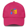 Art Wanderers - Untitled Artwork P45 - Unstructured 6 Panel Flat Embroidery Hat - Bright Pink
