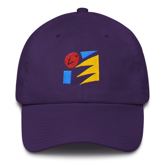 Image of Art Wanderers - Untitled Artwork P45 - Unstructured 6 Panel Flat Embroidery Hat - Purple