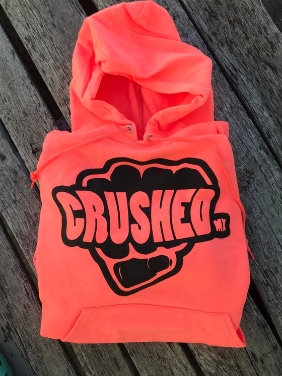 Image of Crushed MX Coral Peach Hoodie