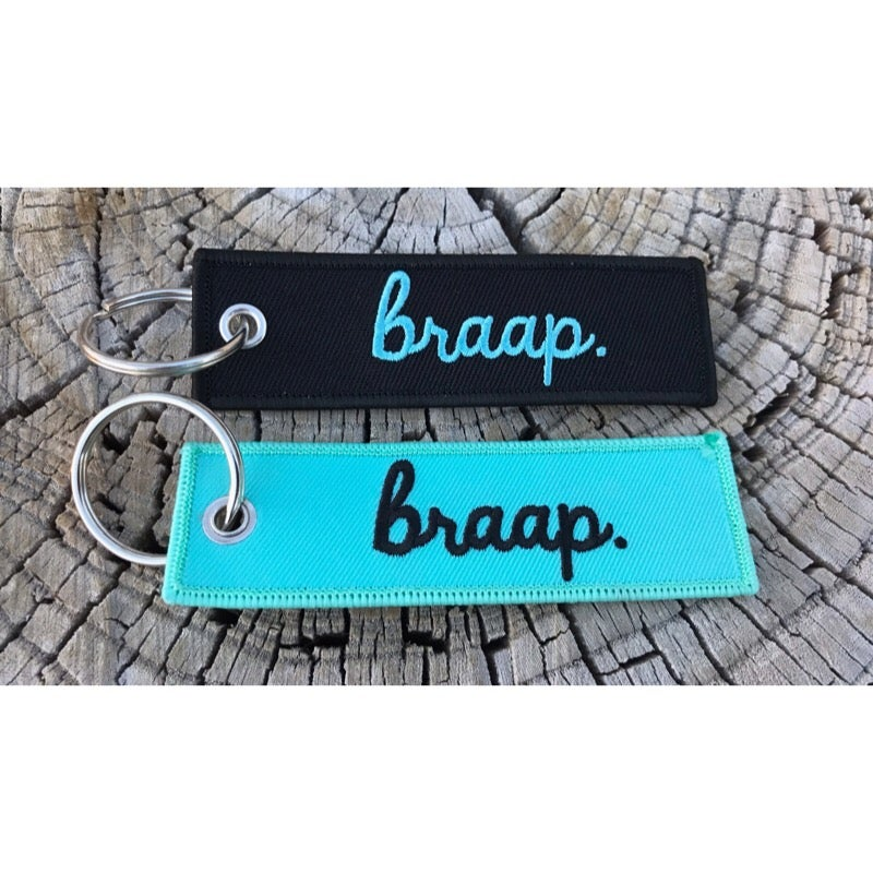 Image of Braap Biker Key Tag Key Chain