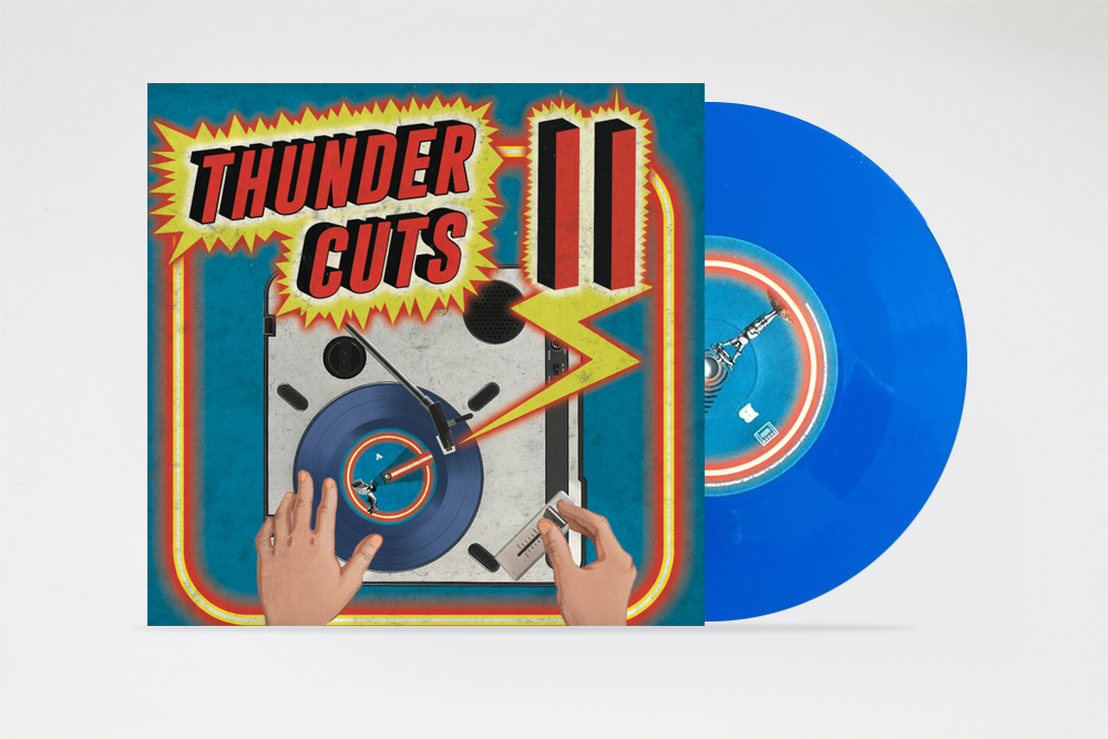 """Image of Thunder Cuts 2 by Aeon Seven 7"""" record"""