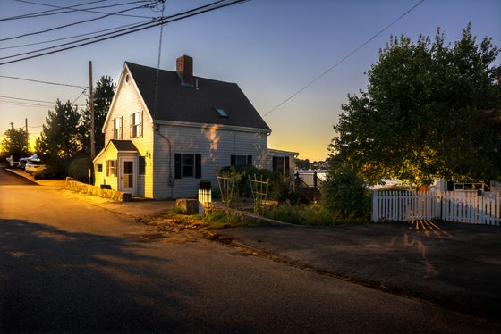 Image of WHEELER POINT, CAPE ANN, NEW ENGLAND. DUSK