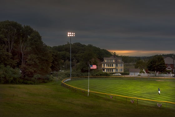 Image of BASEBALL, FRIDAY EVENING, DUSK. GLOUCESTER, MA