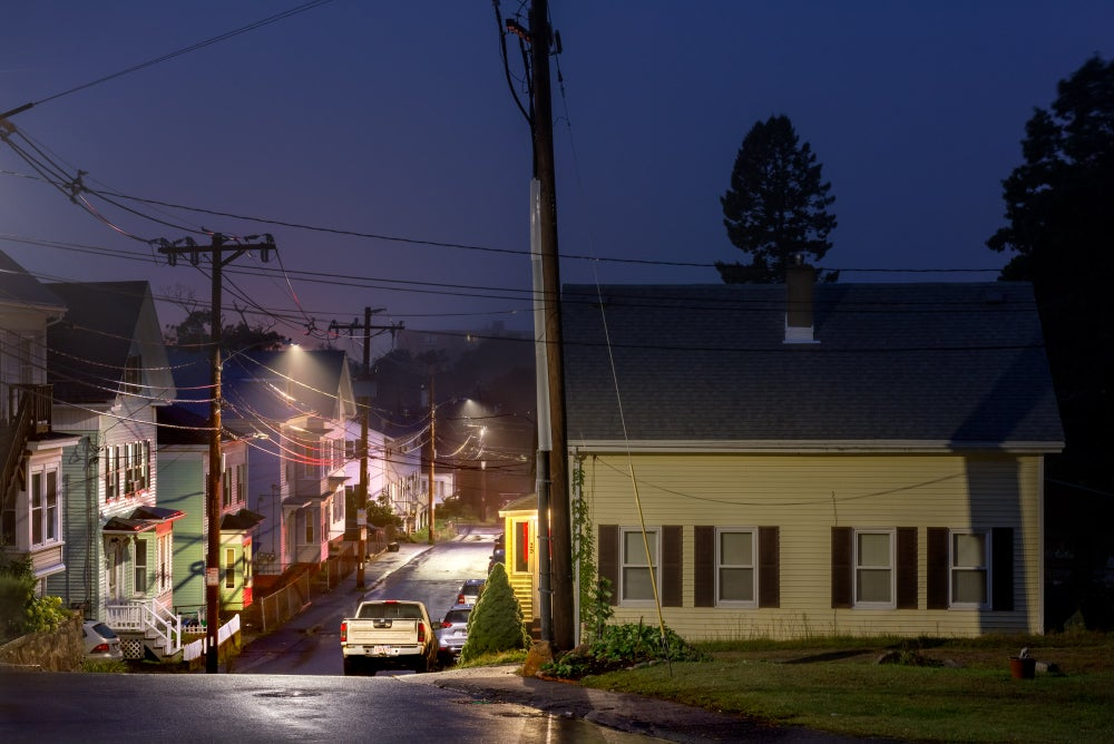 Image of OAK STREET, GLOUCESTER, MA. DAWN.
