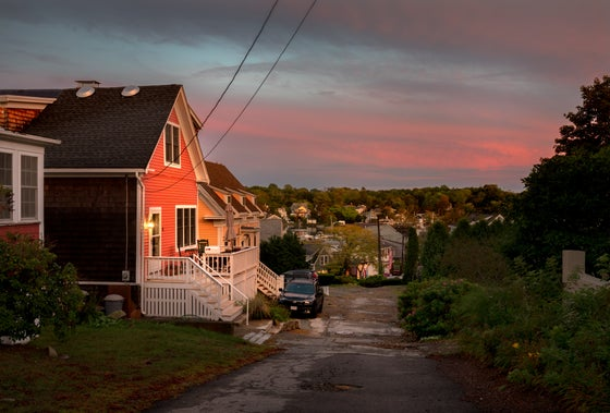 Image of ROCKY NECK, GLOUCESTER MA. DUSK.