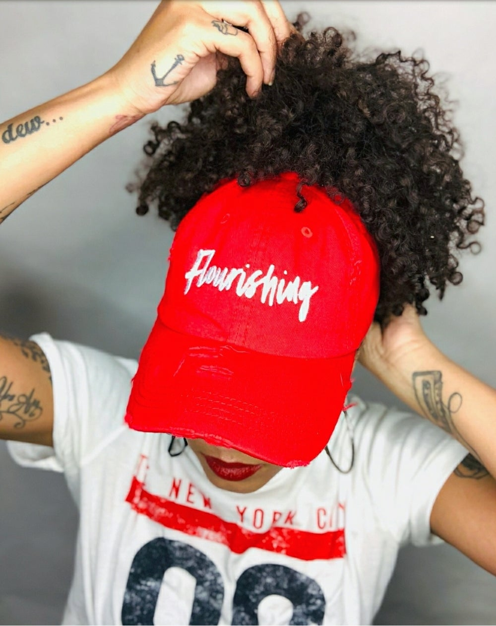 "Image of ""Flourishing"" Puff Dad Hat"