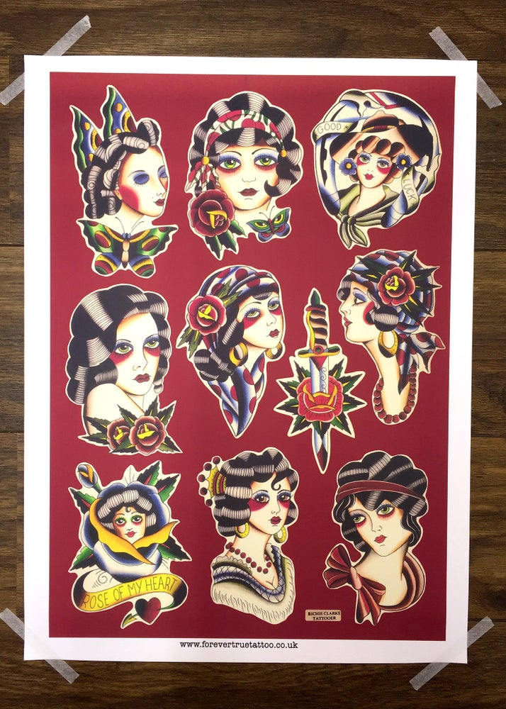 Image of Lady Faces Print ~ Richie Clarke