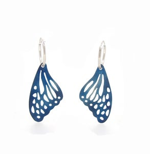 Image of {NEW} Springtime Butterfly Wing Hoop Earrings