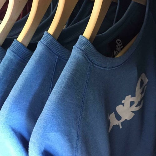 Image of Cure blue tag sweatshirt