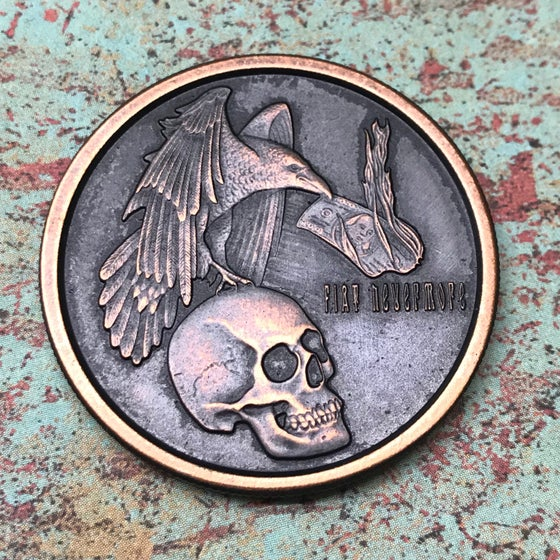 Image of Fiat Nevermore 1oz Copper Challenge Coin