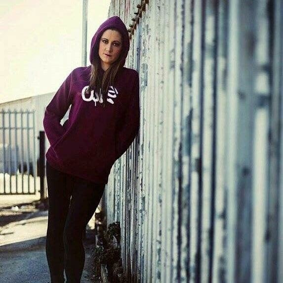 Image of Cure unisex maroon pullover hood