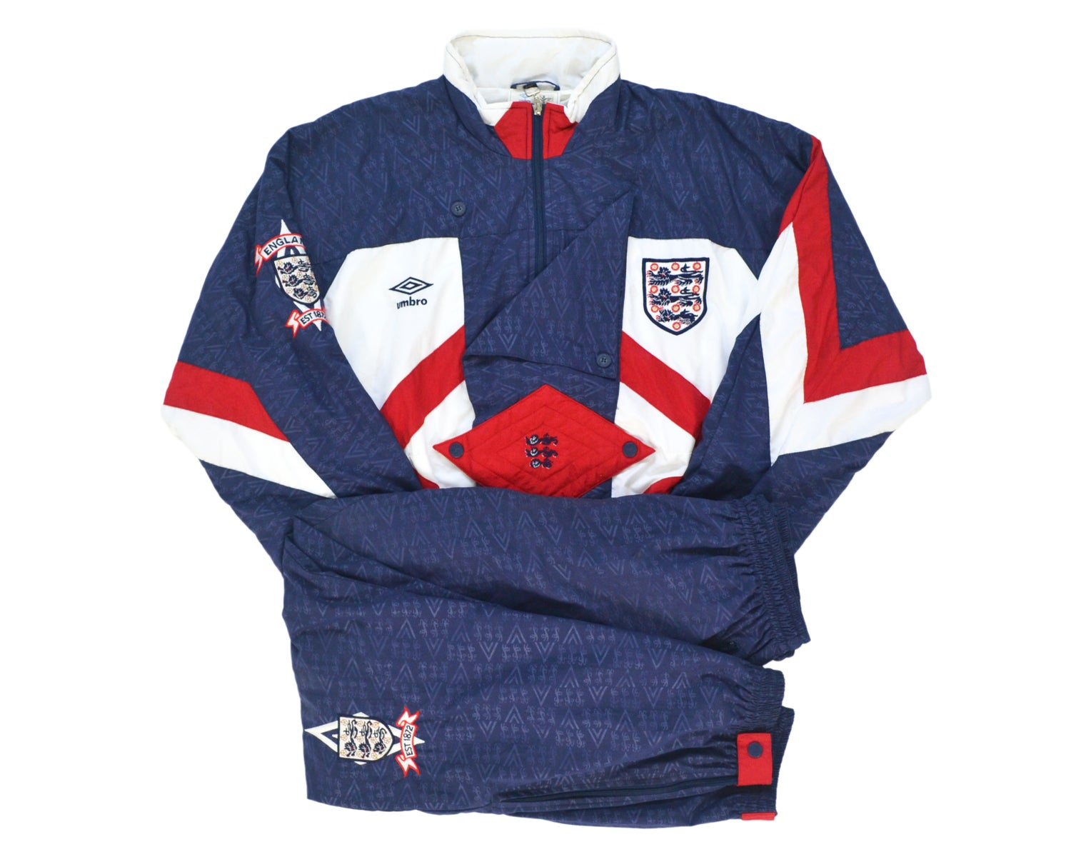 Image of 1990-92 Umbro England Tracksuit XL