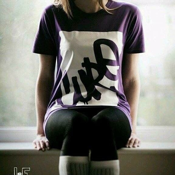 Image of Cure unisex purple organic logo tee