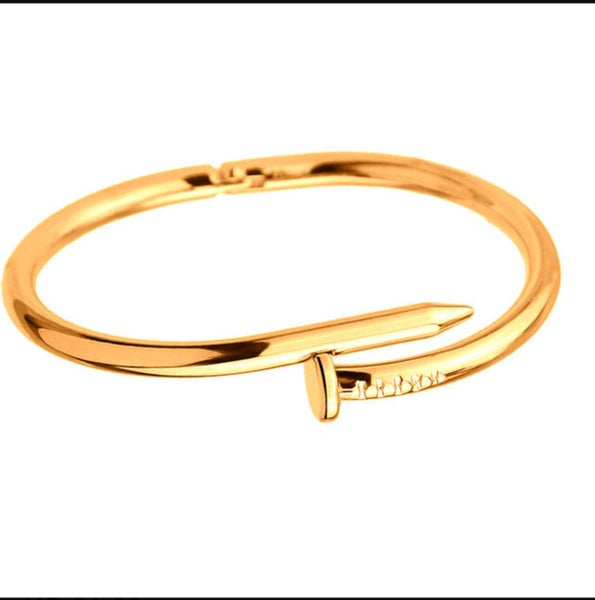Image of Gold plated nail bracelet