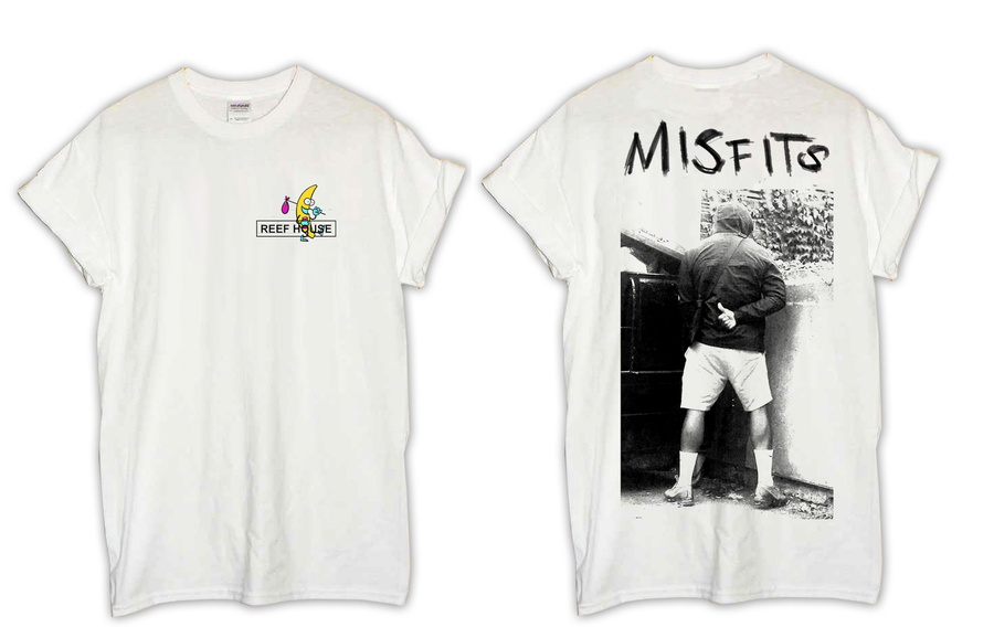 Image of Misfits Tee (LTD Edition Thirsty Thursday joint) in Beer Froth White