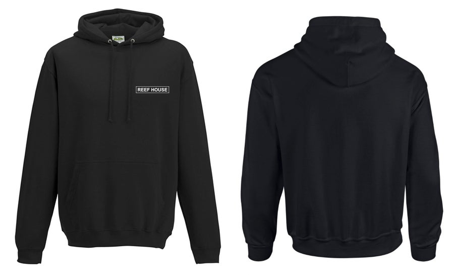 Image of Reefhouse Hoodie in Burner Fone black