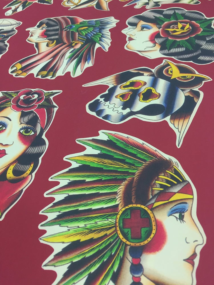 Image of Lady Faces & Skulls Print ~ Richie Clarke