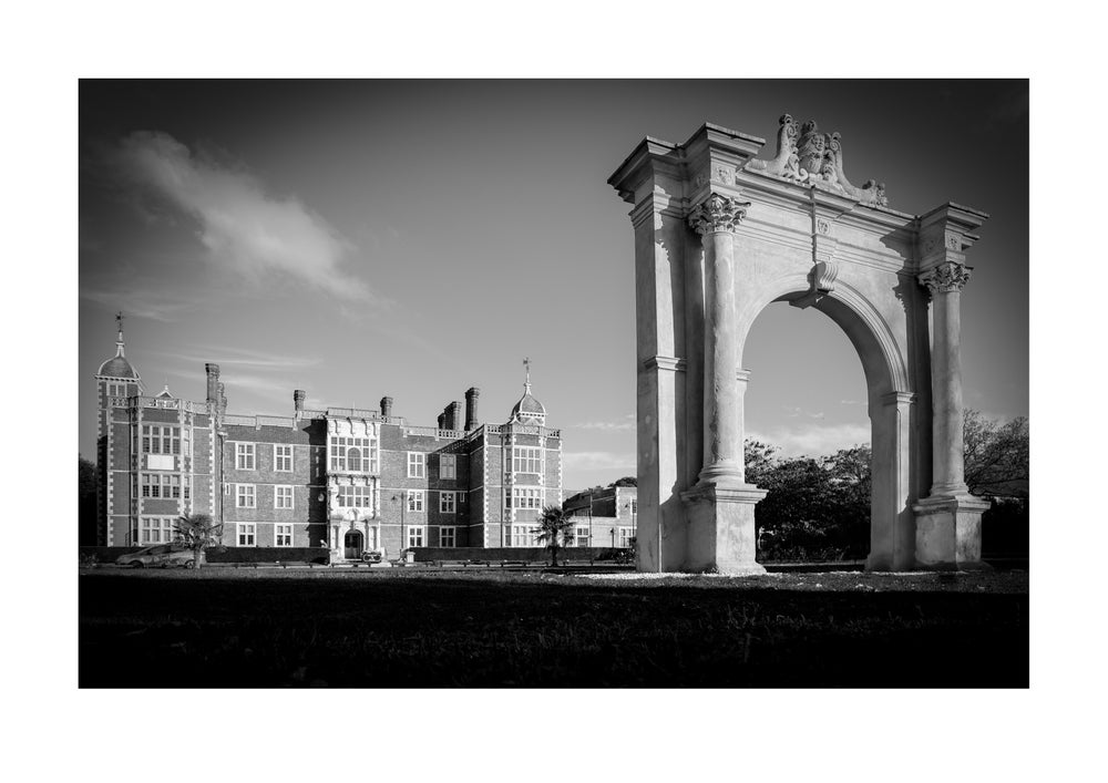 Image of Charlton House and Arch - Black and White Print